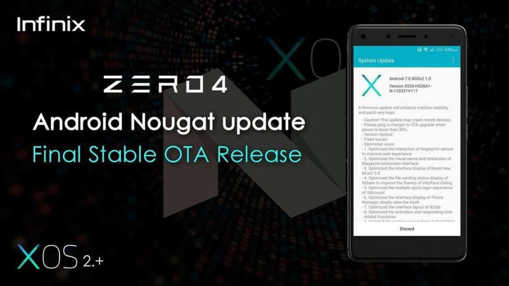 Akhirnya Infinix Zero 4 Cicipi Manisnya Android Nougat