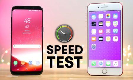 Speed Test Samsung Galaxy S8 vs iPhone 7 Plus