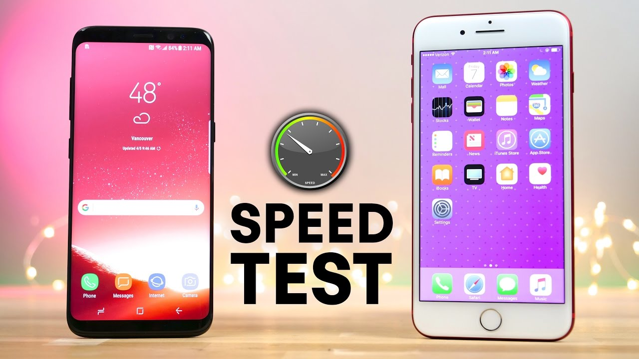 Speed Test Samsung Galaxy S8 vs iPhone 7 Plus