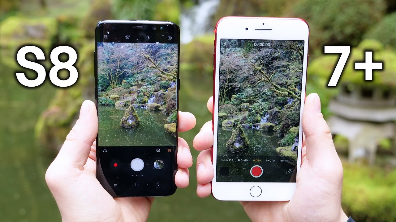 Camera test Galaxy S8 vs iphone 7 plus