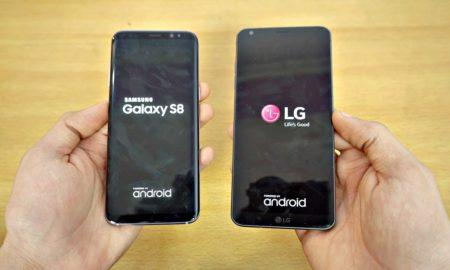 Speed Test Galaxy S8 vs LG G6