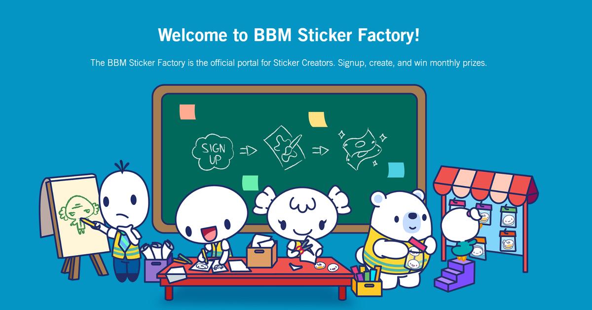 BBM Factory Sticker
