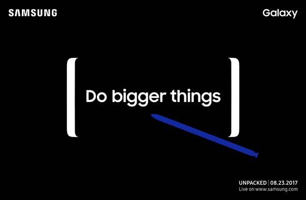 Undangan Peluncuran Galaxy Note 8