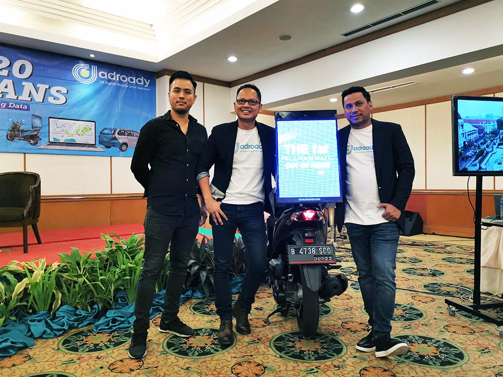 Samuel Utama,CTO Adroady; Ryan Gustavo,VP Sales & Business Adroady; Edward Halley,CEO and Founder Adroady