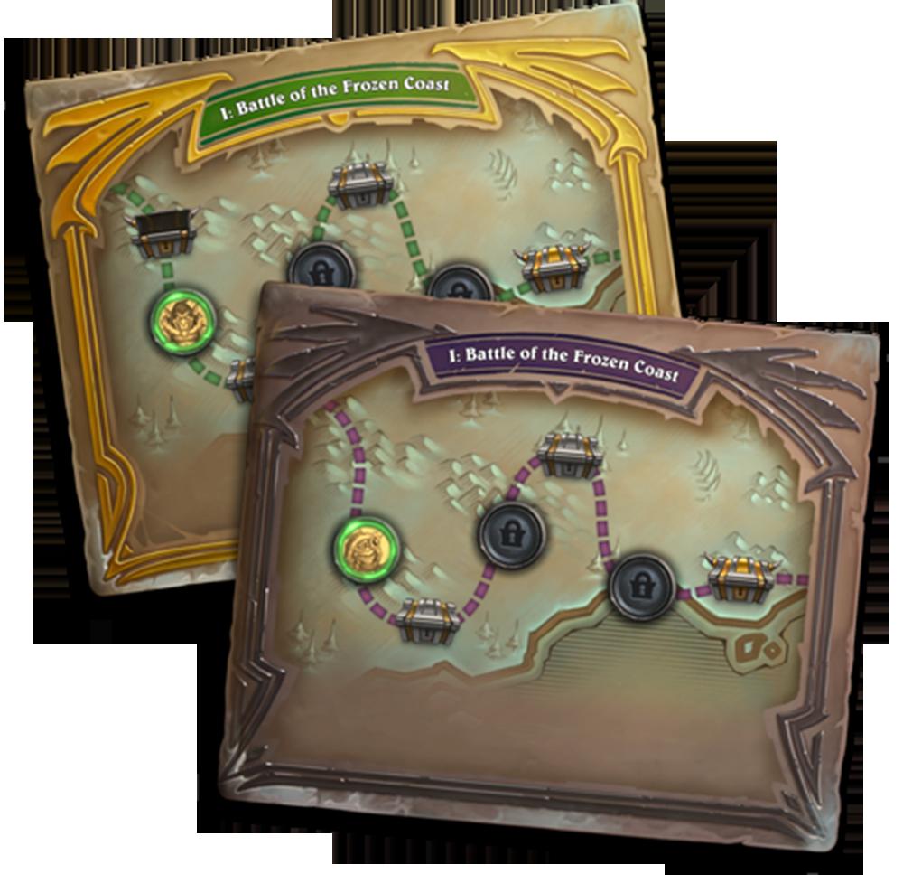 Di Galakrond's Awakening, pemain akan berhadapan dengan serangkaian boss menggunakan pre-built deck untuk mendapatkan 35 kartu baru