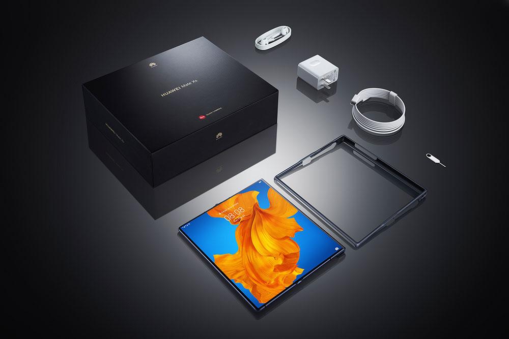Perlengkapan dalam dus Huawei Mate Xs