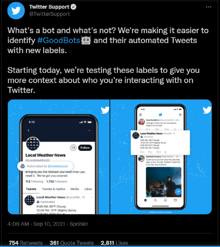 Twitter policy good bot