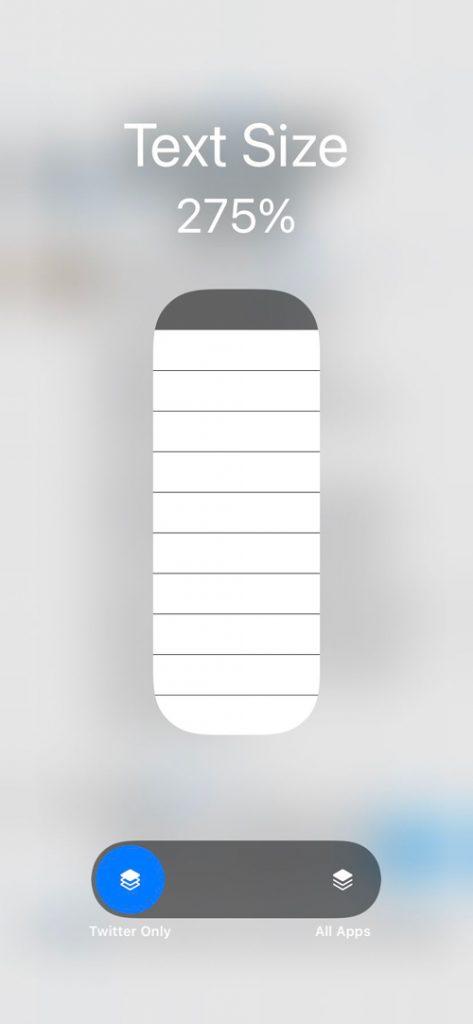 pengaturan text size di iOS 15