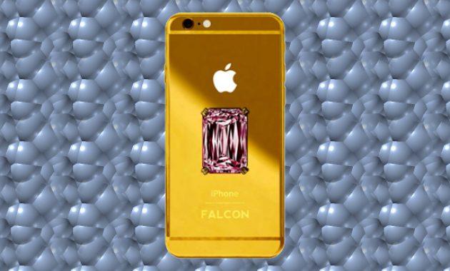HP termahal - Falcon Supernova iPhone 6 Berlian Merah Muda