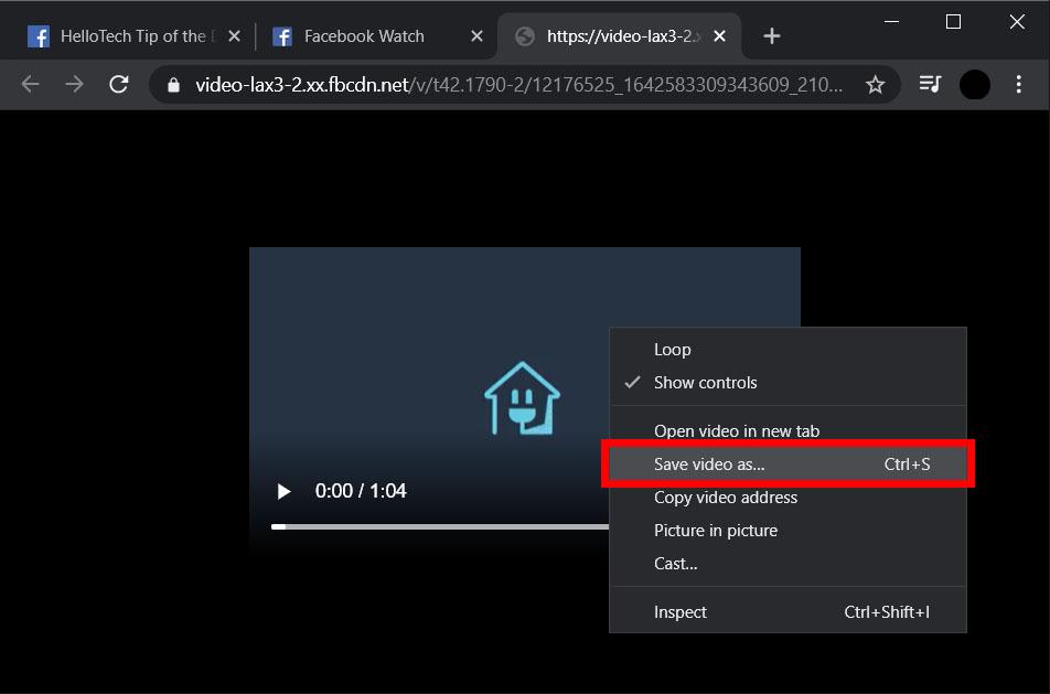 Cara save video FB di komputer